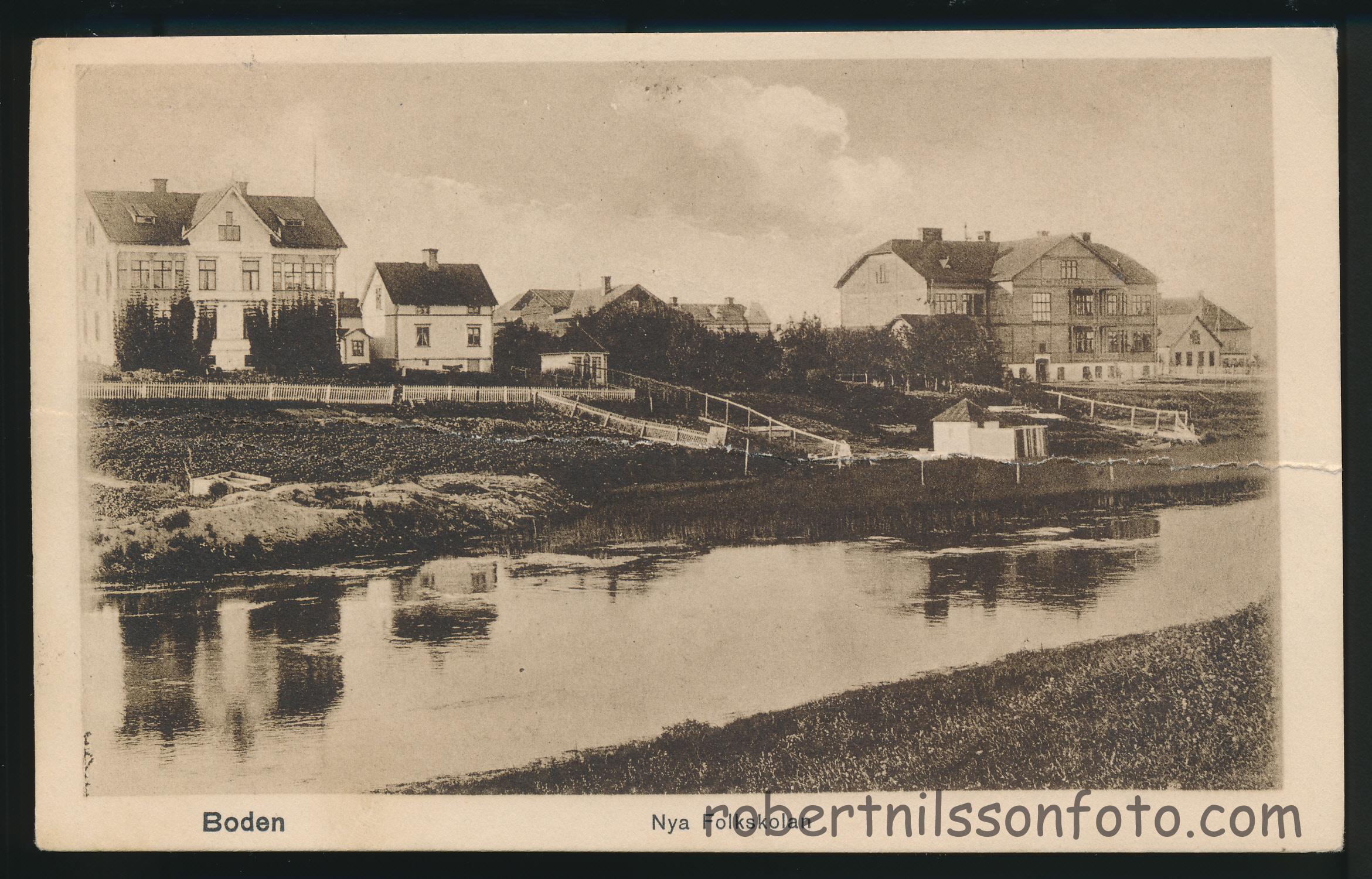 Boden nya folkskolan frankerat 1917 0001 robert nilsson foto for Boden bilder